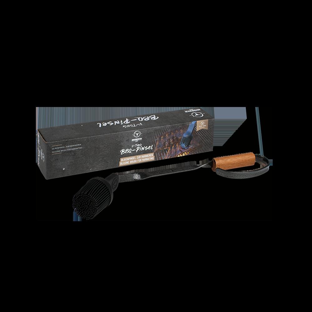 BBQ Pinsel V-Tong - Silikonpinsel zum Marinieren