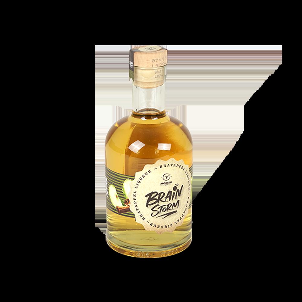Brainstorm Bratapfel Liqueur - Schnaps (500ml, 20%)