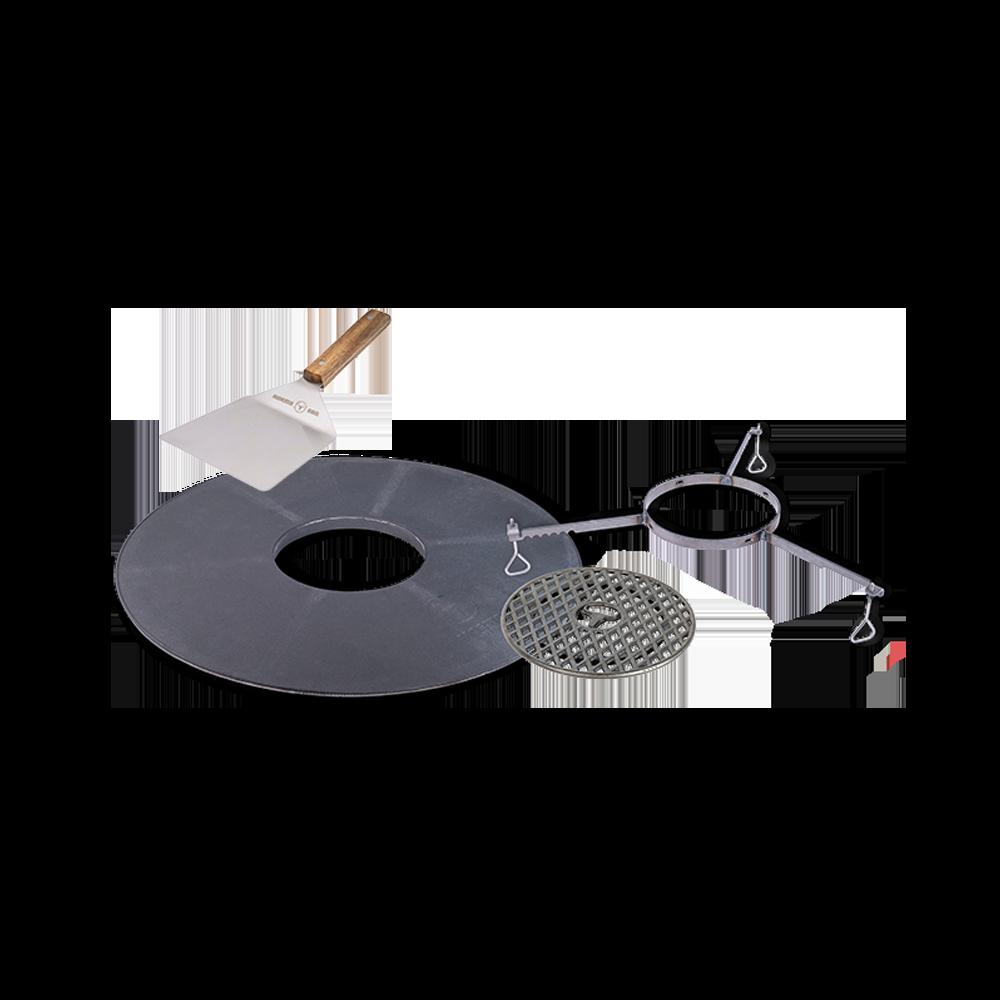 BBQ-Disk Starter Set mit SizzleRost und Spachtel
